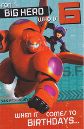 Disney's Big Hero 6 - Age 6 Birthday Card