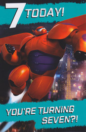 Disney's Big Hero 6 - Age 7 Birthday Card