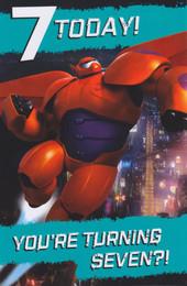 Disney's Big Hero 6 - Age 7 Birthday Card