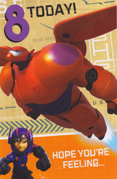 Disney's Big Hero 6 - Age 8 Birthday Card