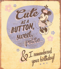 Minnie Mouse - I Remembered Your Birthday Card