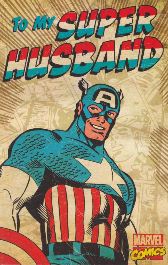 Marvel Captain America Husband Birthday Card Cardspark