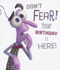 Inside Out - Birthday Card - Fear