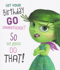 Inside Out - Birthday Card - Disgust