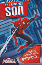 Spiderman - Son's Birthday Card
