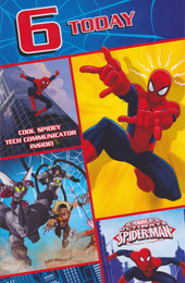 Spiderman - 6th Birthday Card