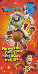 Toy Story - 5th Birthday Card
