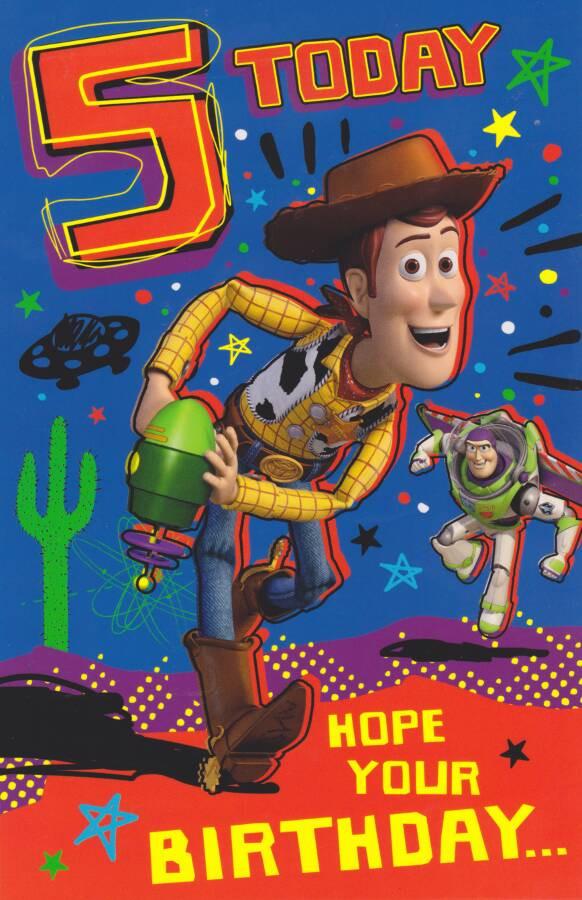 Toy Story Age 5 Birthday Card Cardspark