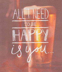 You And Beer Greeting Card