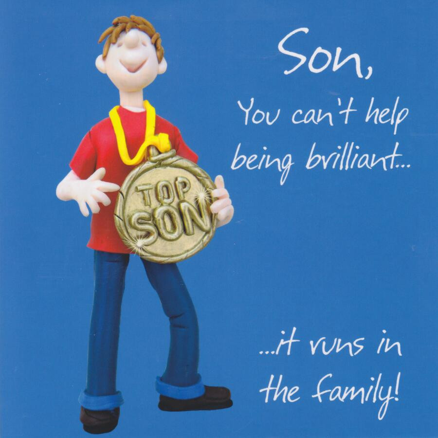 Admirable Son Birthday Card Cant Help Being Brilliant One Lump Or Two Funny Birthday Cards Online Alyptdamsfinfo