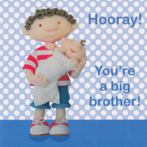 New Big Brother, New Baby Card
