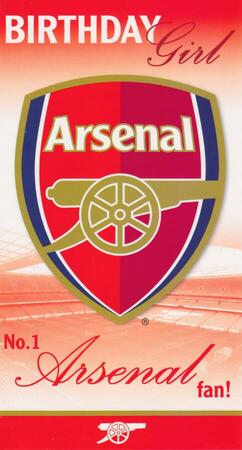 Arsenal F.C. - Birthday Girl Card