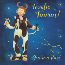 Taurus Star Sign Zodiac Birthday Card