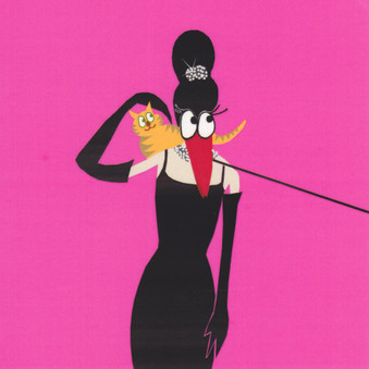 Audrey Hepburn Humorous Greeting Card
