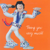 Thank You Very Much Card - Elvis