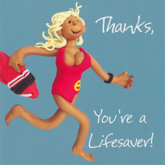 Thank you Card - Pamela Anderson Baywatch