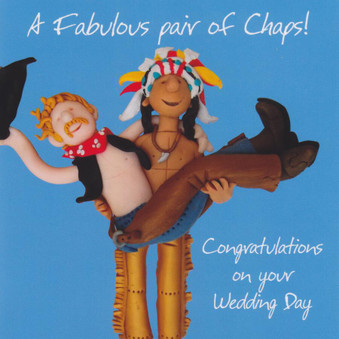 Wedding Day Greeting Card - Fabulous Pair Of Chaps