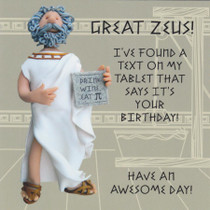 Zeus Birthday Card