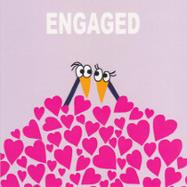Engaged Greeting Card - Pink