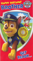 Paw Patrol - Brother's Birthday Card