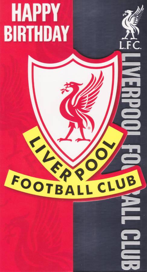 Liverpool Football Club Crest Birthday Card Cardspark