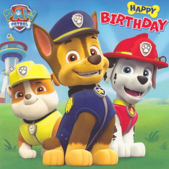 Paw Patrol - Birthday Card