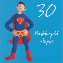 Penblwydd Hapus - Welsh Male Age 30 Birthday Card