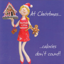 Calories Dont Count Christmas Card
