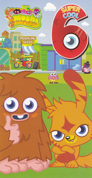 Moshi Monsters Age 6 Birthday Card With Badge