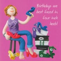Four Inch Heels Birthday Card