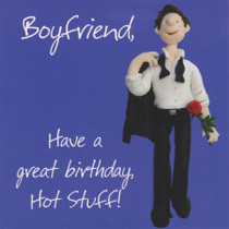 Boyfriend Birthday Card - Hot Stuff