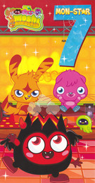 Moshi Monsters Age 7 Birthday Card With Badge