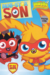 Moshi Monsters Son Poster Birthday Card