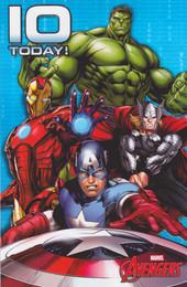 Marvel Avengers - Age 10 Birthday Card