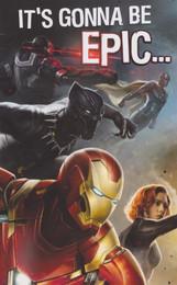 Captain America Civil War - Birthday Card - 3 Panel