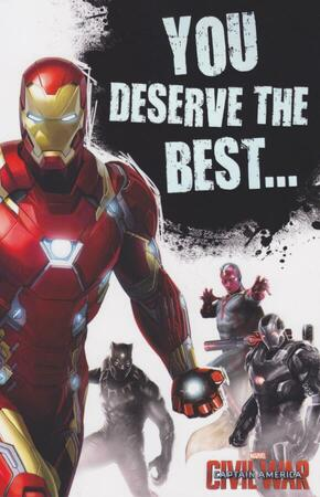Captain America Civil War - Team Iron Man Card