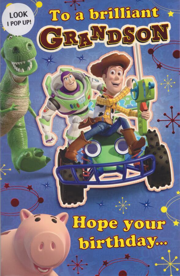Toy Story Grandson Birthday Card Pop Up Cardspark