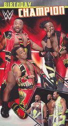 Big E Kofi Kingston Xavier Woods Birthday card