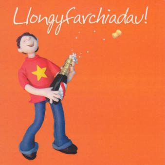 Llongyfarchiadau Cerdyn - Welsh Congratulations Card
