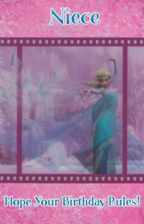Disney Frozen - Niece Birthday Card
