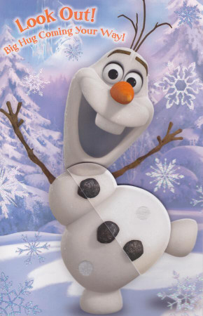 Disney Frozen - Olaf Birthday Card
