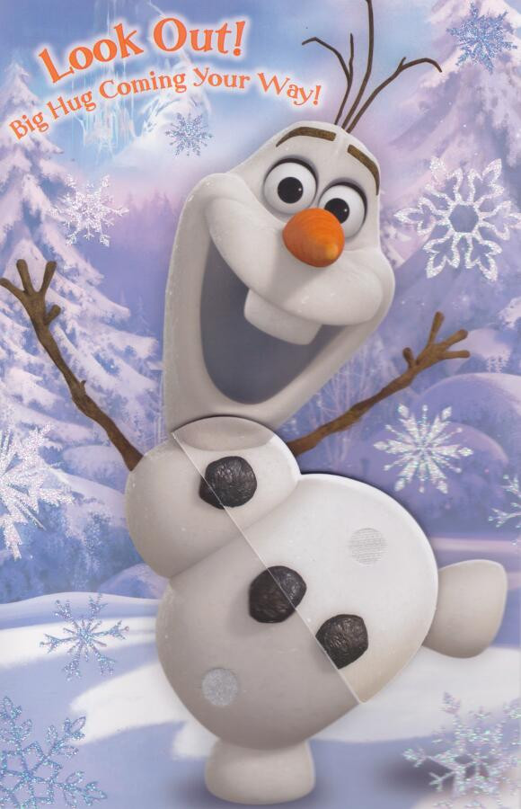 frozen  olaf birthday card  honeycomb concertina front