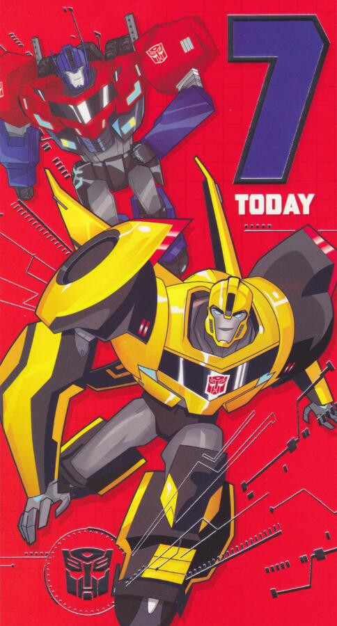 Transformers Robots In Disguise Age 7 Birthday Card 7th Cardspark