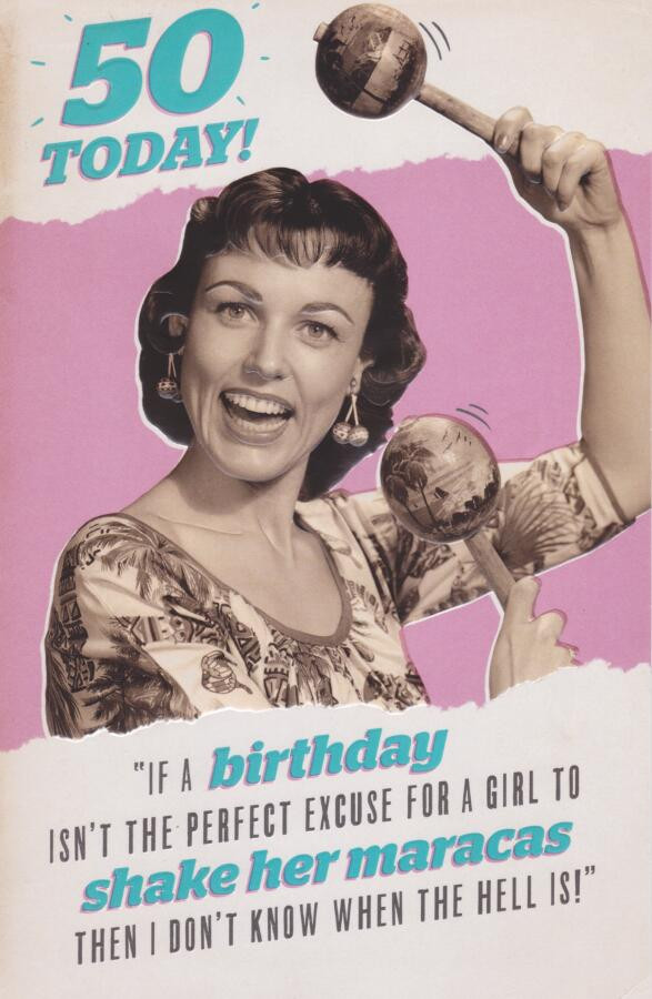 50th Retro Humorous Birthday Card