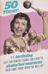Age 50 Retro Humorous Birthday Card