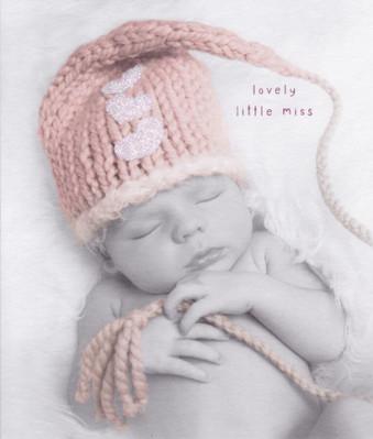 New Baby Girl Card - Lovely Little Miss