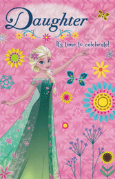 Disney Frozen - Daughter's Birthday Card
