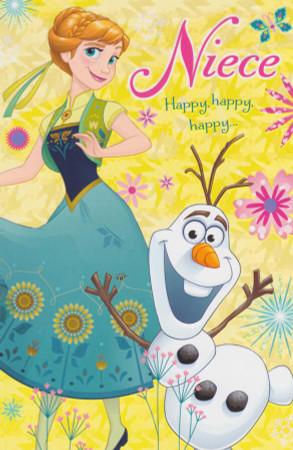 Frozen - Niece's Birthday Card