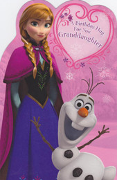 Disney Frozen - Granddaughter's Birthday Card