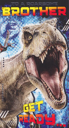 Jurassic World - Brother's Birthday Card